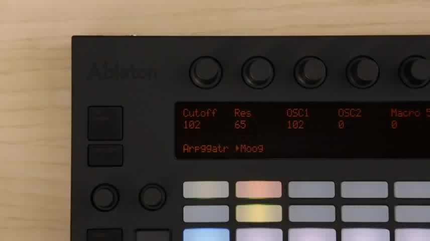 Push: Controlling hardware synthesizers