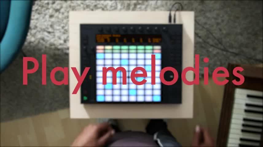 使用Push演奏记录好的音乐和和弦