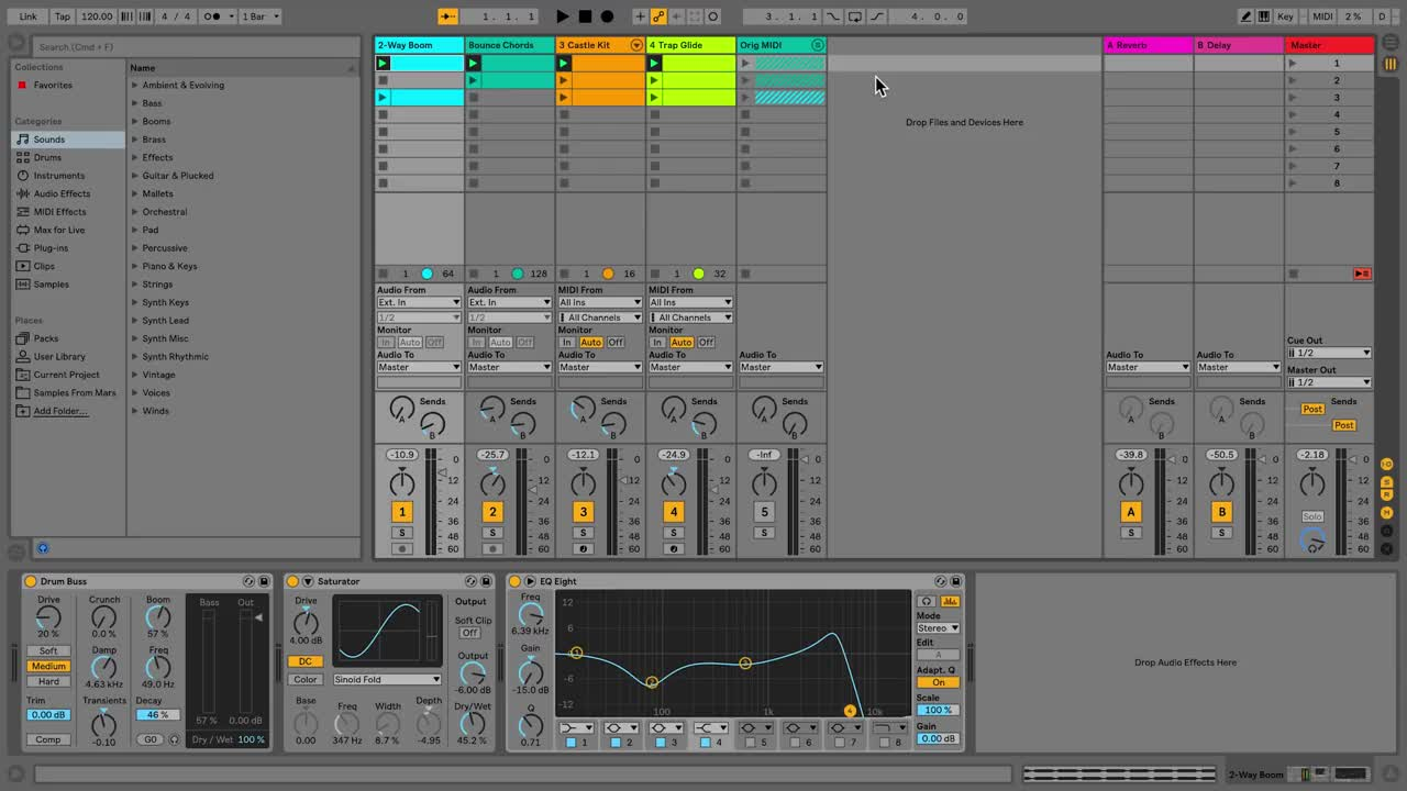 Ableton Live 10 - Tracks