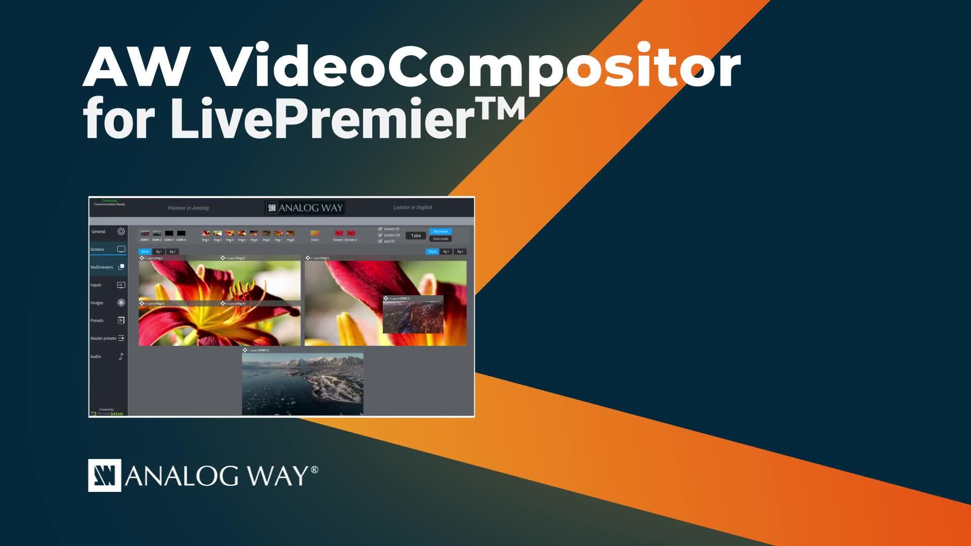 AW LivePremier?的VideoCompositor軟件