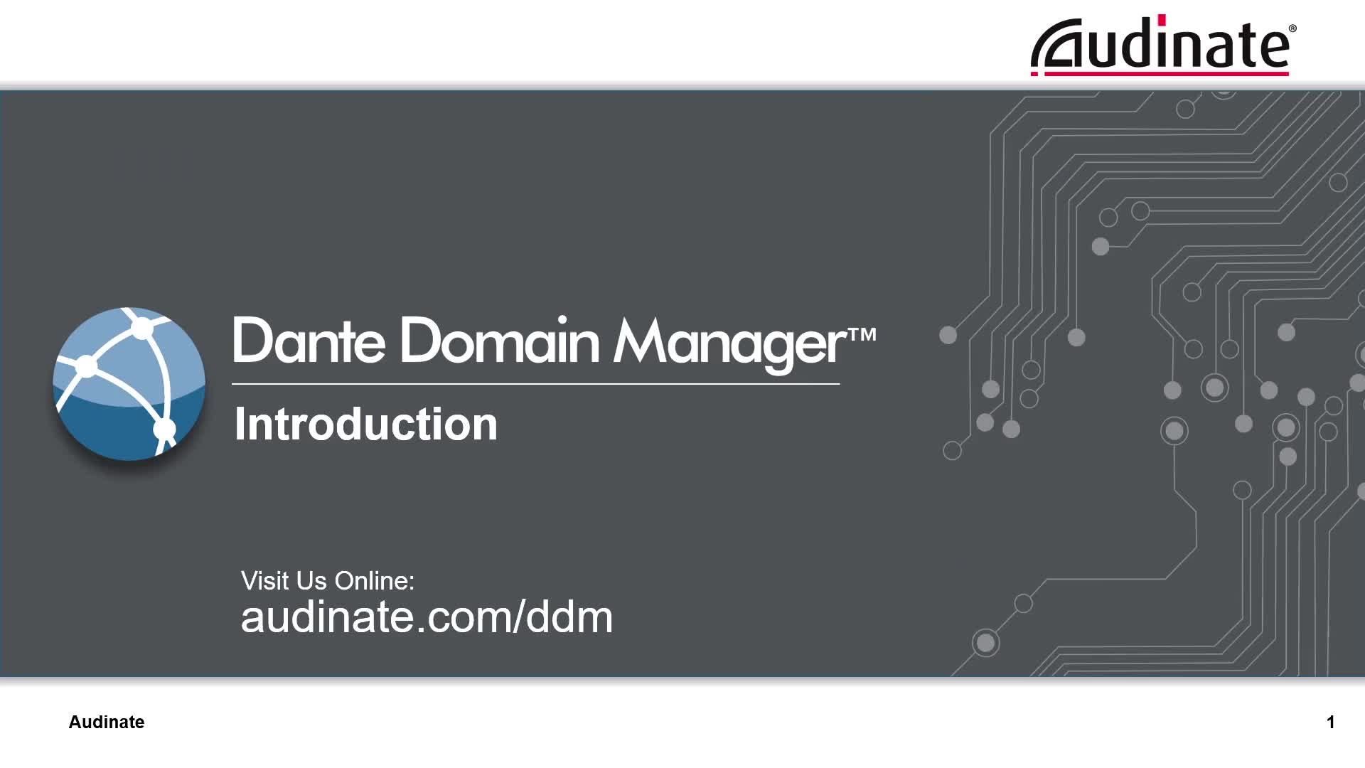Introduction of Dante Domain Manger