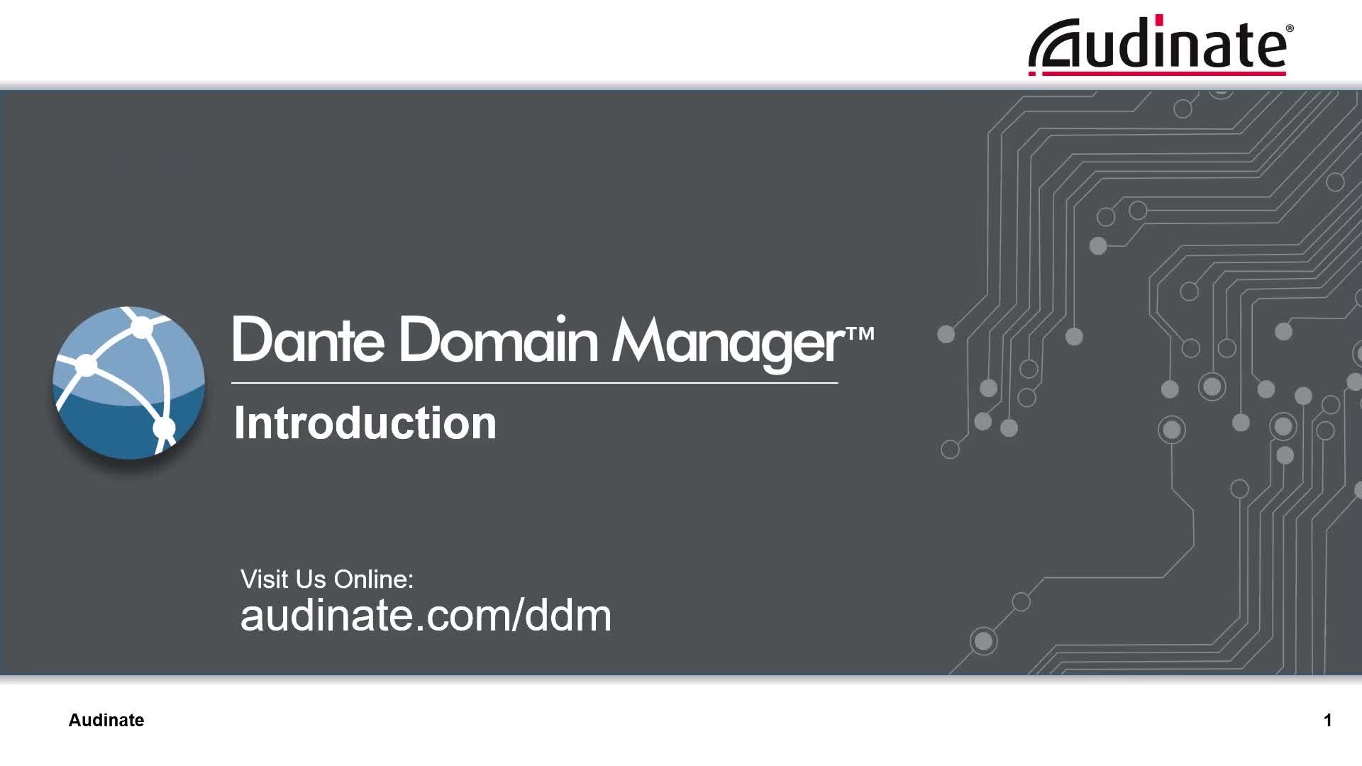 Dante Domain Manager 介绍视频