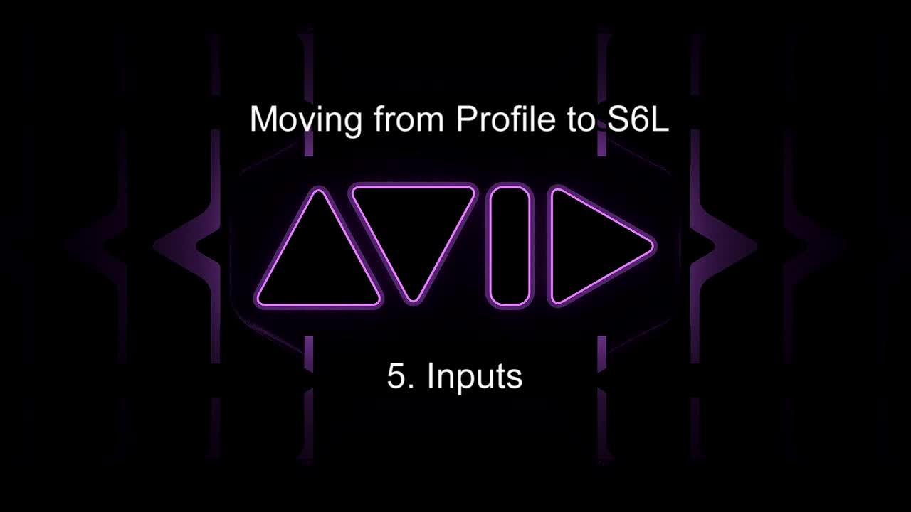 從Profile移至S6L-24C操控教學_ 5.輸入