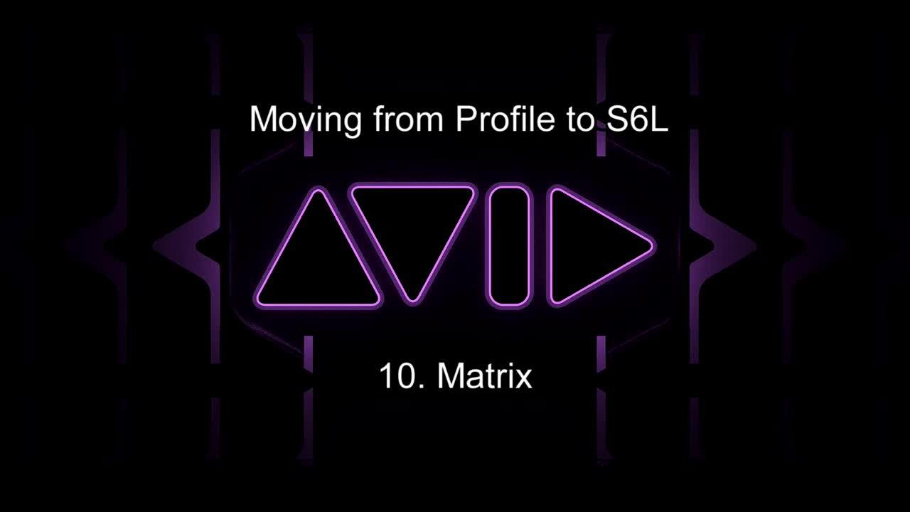 从Profile移至S6L-24C操控教学_ 10.矩阵