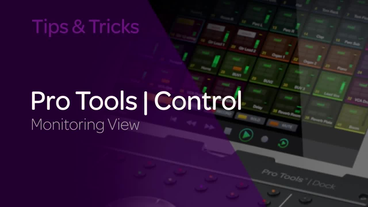 Introducing Pro Tools _ Control Monitoring View