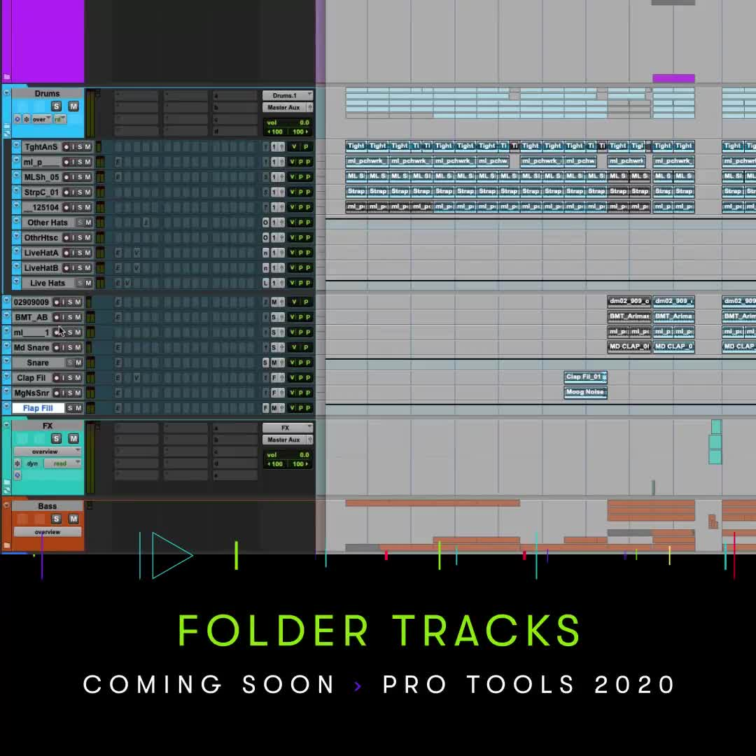 Pro Tools 2020 - Folder Tracks