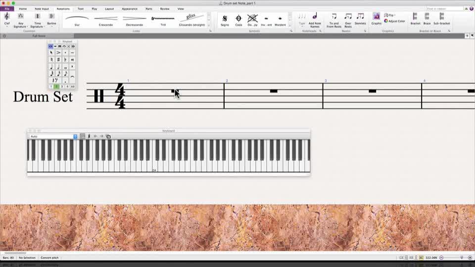 Drum Set Notation in Sibelius: Part 1