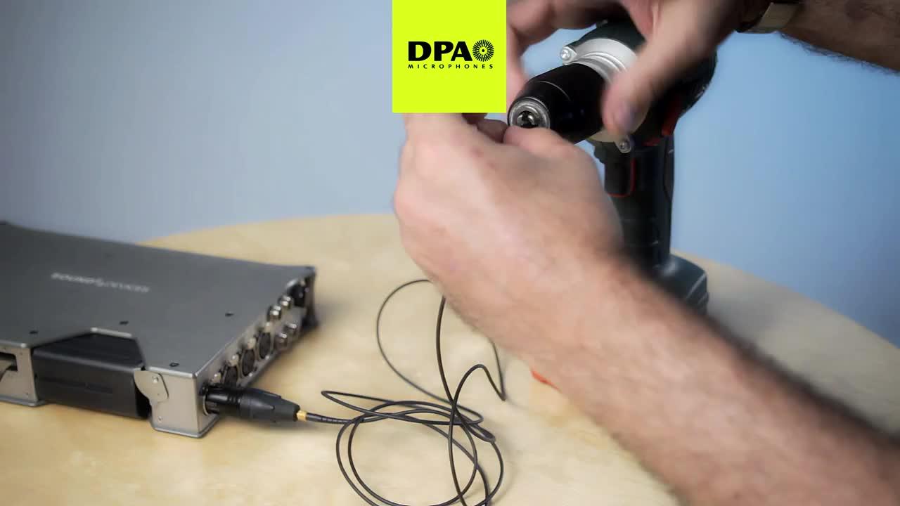 dscreet™ 麦克风抗压耐用性测试之手电钻