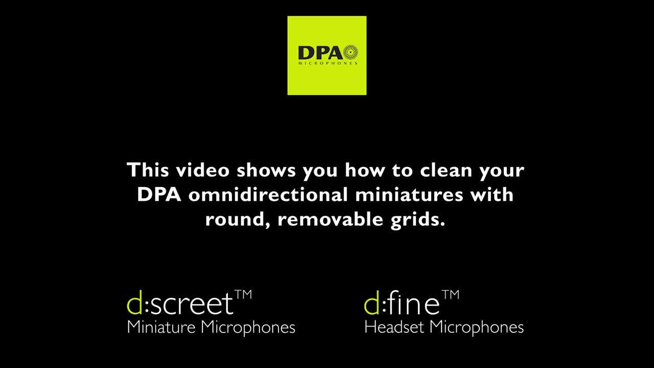 如何清洁DPA微型话筒(dscreet、dfine)