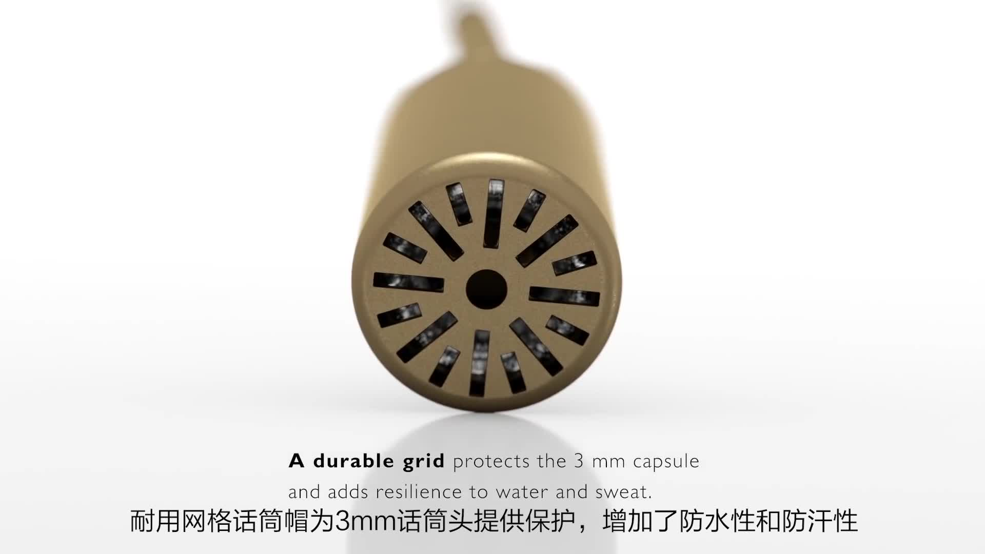 超微型头戴话筒产品演示
