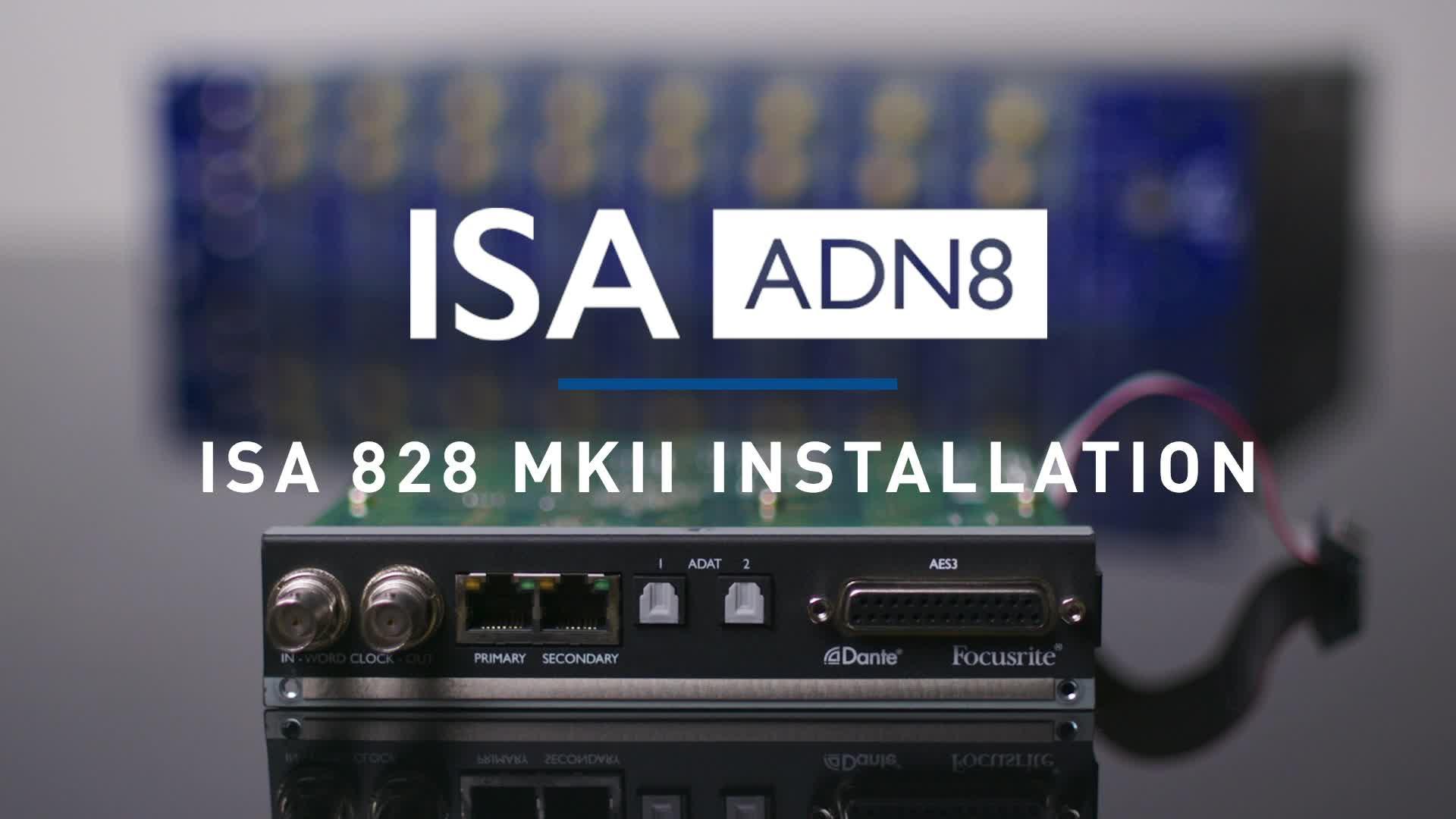 Focusrite - ISA 828 MKII ADN8 Card Installation