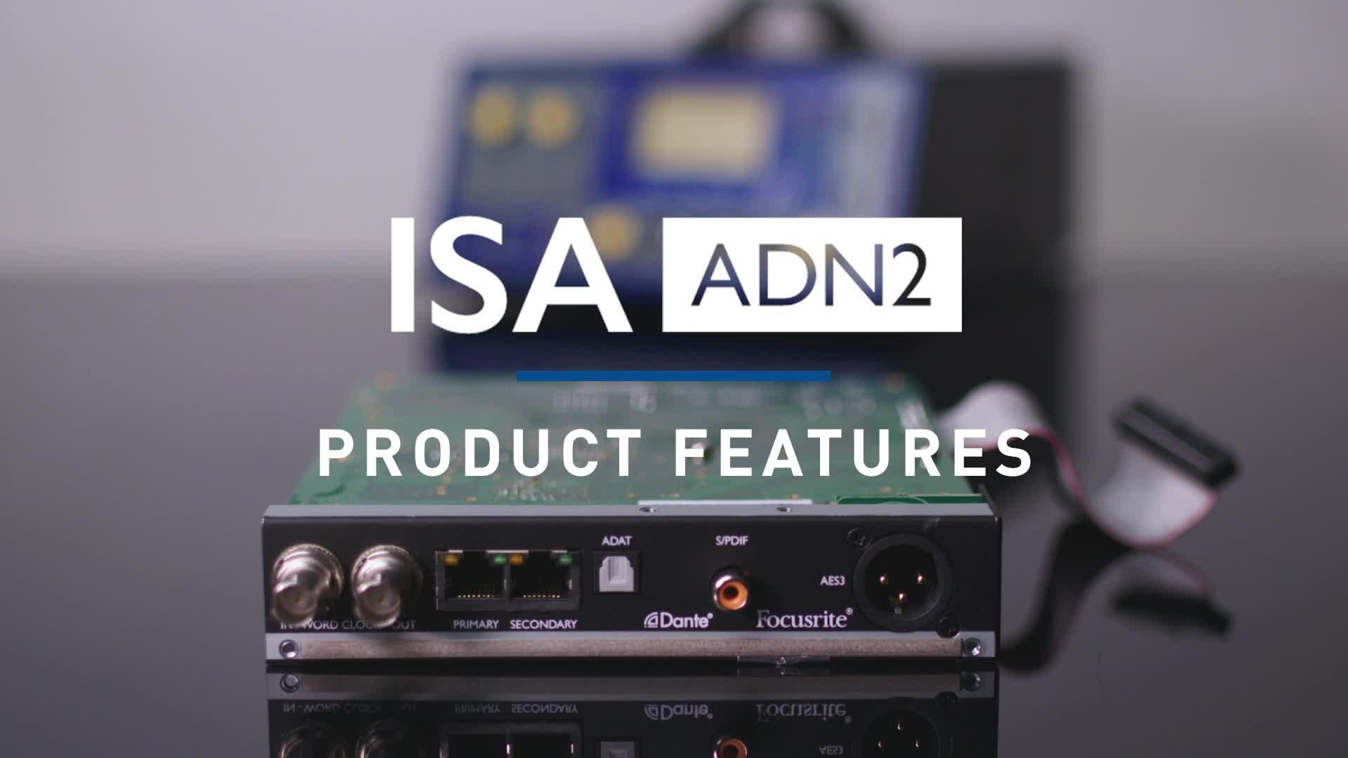Focusrite - ISA ADN2 Card Overview