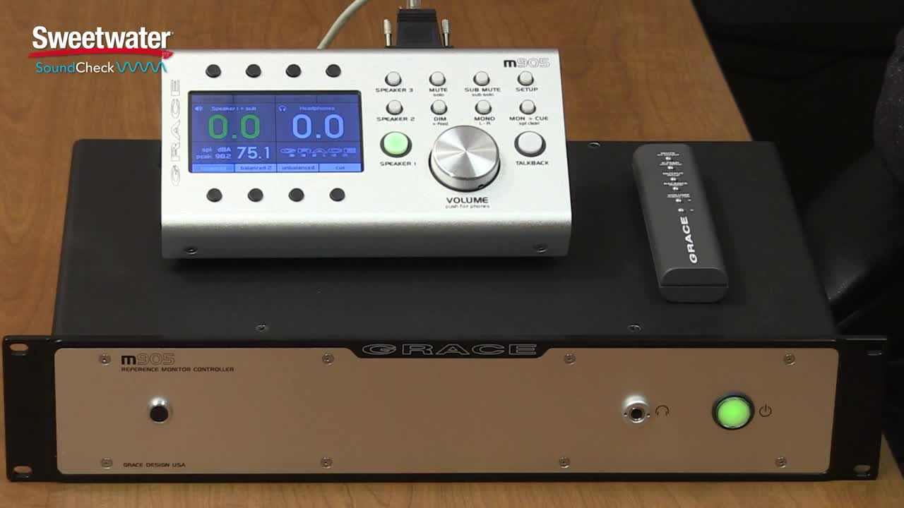 Grace Design m905 Analog 2.1监听系统介绍-Sweetwater Sound