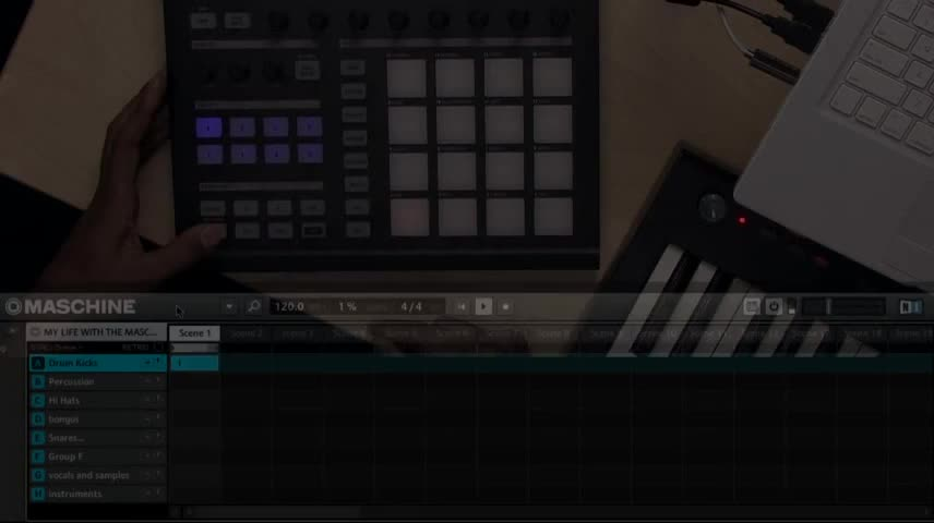 Mike Huckaby using Maschine 1.6