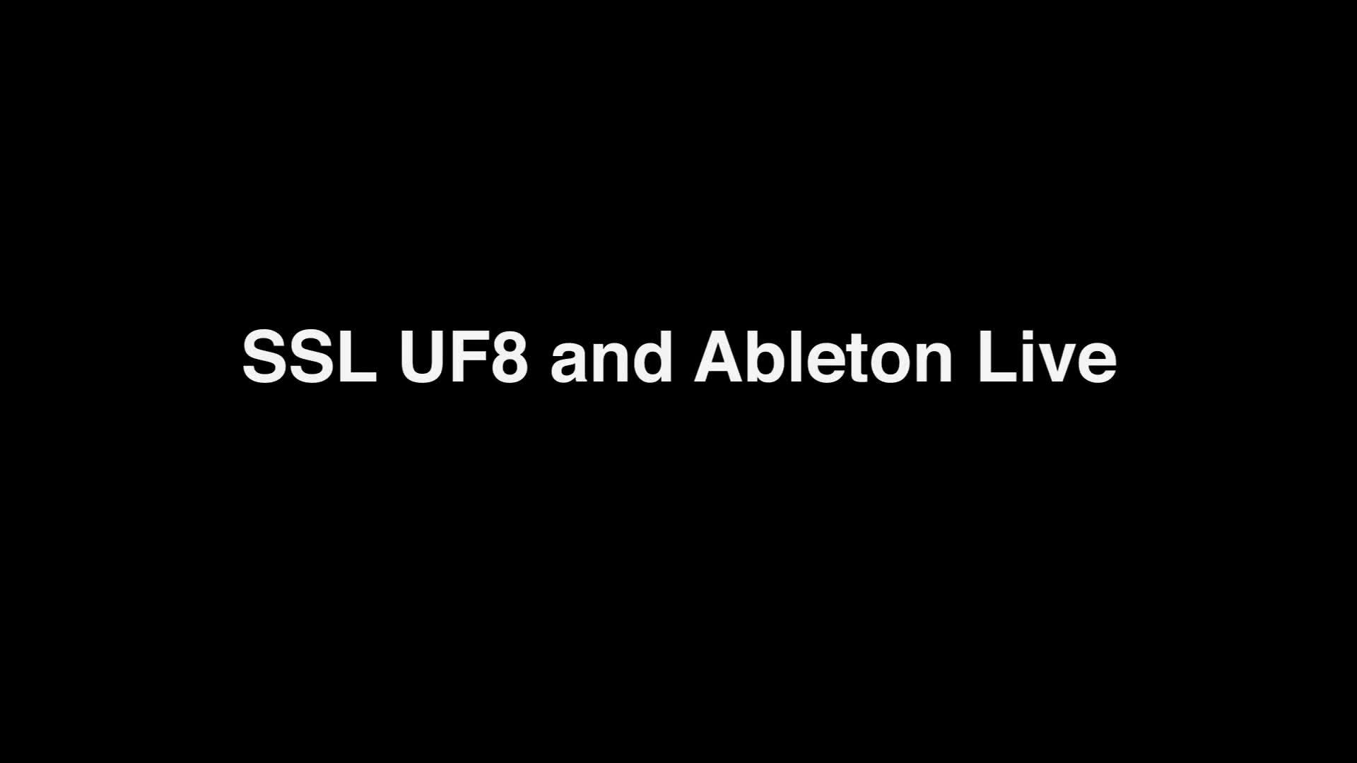 UF8 Ableton Live Install Setup